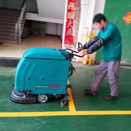 工厂车间扫地机手推式电瓶洗地车医院车站环氧地坪水泥地洗地机
