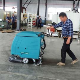 电瓶手推洗地机工业车间洁乐美水泥地面大理石金刚砂地面拖地机
