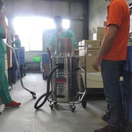防爆车间用气动吸尘器化工厂用气动吸尘器80L电子厂用气动吸尘器