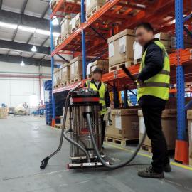 仓库用电动吸尘器GS-1580XP室外用充电式工业吸尘器吸货架灰尘