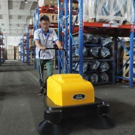 工厂车间用扫地机手推式电动吸尘清扫车双刷带洒水扫地机洁乐美