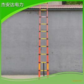 杰安达人字梯jaddl-t-1*8m折叠梯伸缩梯关节绝缘升降梯