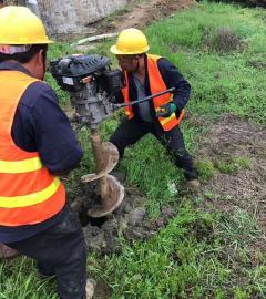 栽杆钻孔机新型便捷式挖坑机