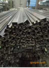 60*60玻璃护栏槽管,凹形管尺寸规格