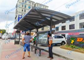 右江区公交候车亭制作,珠三角地区公交候车亭生产厂家