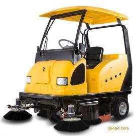 工厂工地水泥地面用驾驶式扫地车 明诺电动扫地机