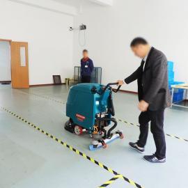 室内篮球场羽毛球场地塑胶地面清洁专用洗地机自走手推式洗地机