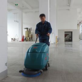 员工食堂用手推式全自动工厂洗地机电动小型车间多功能刷地机