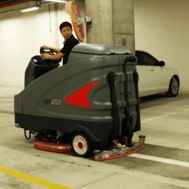 宝山商场地下车库清洁洗地机高美GM230可爬坡洗地拖地机