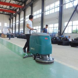 手推式洗地机工厂车间电瓶式洗地吸干机工业洗地机全自动