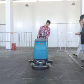 水泥地面工厂车间超市手推式洗地机工业全自动拖地机刷地机