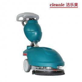 小型电动洗地机家用商用地面拖地机洗地车洁乐美YSD-350清洁设备