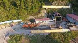 鑫通三臂凿岩台车铁路隧道案例