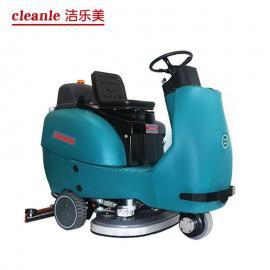 大型展会清洗车地面拖地机电动洗地机洁乐美YSD-9600机场保洁车