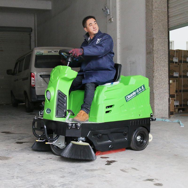 清洁扫地机工厂车间小型驾驶式自动扫地车吸粉尘KM-V1