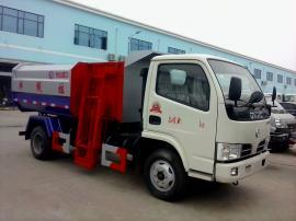 东风国六5方挂桶垃圾车