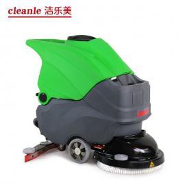 工厂车间手推式电动洗地拖干机洁乐美YSD-680电瓶洗地机促销