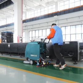 工厂车间环氧地坪清扫机自走式电动洗地机手推式拖地机