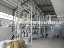 小麦加工生产线,石磨磨面机,石磨面粉加工设备