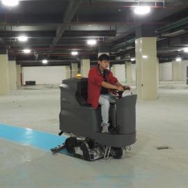 售后服务洗扫一体机大型驾驶式GM110BTR80 地下车库清扫洗地机