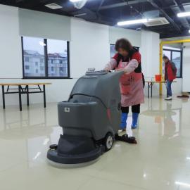 南汇超静音型拖地机手推式高美GM56B 电动擦地机医院大厅洗瓷砖