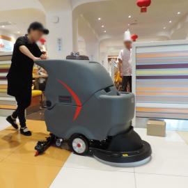 餐厅洗地吸干机杨浦医院静音型地面刷洗吸污一体机 电动扫地机