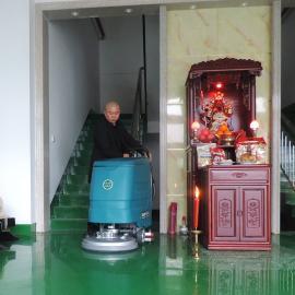 手推式洗地机全自动商用拖地机工厂工业扫地机刷地洗地车电动