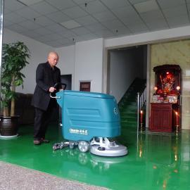 YSD-730手推式洗地机工厂洗地机物业保洁全自动电动刷地洗地机