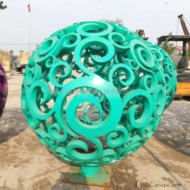 不锈钢球雕塑 户外景观球雕塑 金属镂空球雕塑