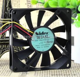 原装Nidec 8015 D08R-12TM 03A 12V 0.12A 3线CPU超静音散热风扇
