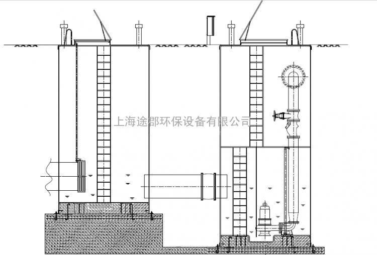 地埋式玻璃钢预制泵站