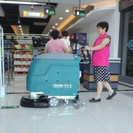 手推式洗地机全自动拖地机器洁乐美电动擦地机水洗地面清洁设备