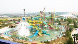 多种类型水上乐园 儿童水乐园 多彩滑道 大喇叭 游玩设备