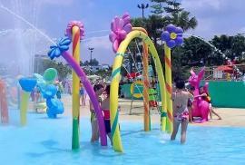 戏水池 水上乐园螺旋滑道 大喇叭 多种游乐设备