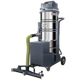 大型木制品加工车间用威德尔锂电池工业吸尘器吸木屑粉尘用