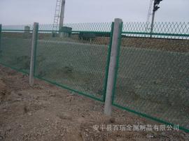 钢板网护栏-浸塑钢板网防护栅栏-蒙华铁路钢板网防护栅栏