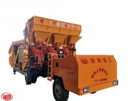 建特重工-混凝土喷浆车/工程型自动上料喷浆机组(一拖三双斗)