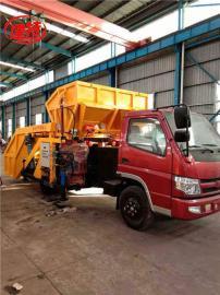 建特重工-混凝土喷浆车 车载自动上料喷浆机组(一拖二双斗)