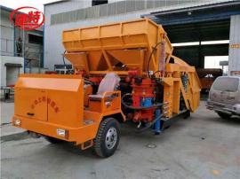 建特重工-混凝土喷浆车丶工程自动上料喷浆机/一拖二双斗丨新品热