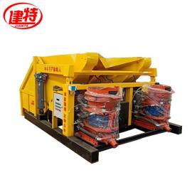 建特重工-吊装丨自动上料喷浆机组(一拖二单斗)工作原理
