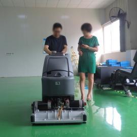 高美手推洗扫一体机GM65RBT浦东工厂油污地面洗地机