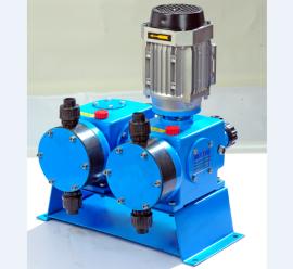 DJ-X2型机械驱动隔膜式计量泵 双泵头双流量加药计量泵