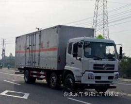 东风天锦三轴腐蚀性物品厢式运输车