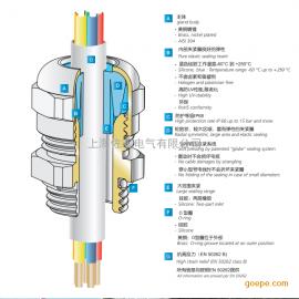 304不锈钢防水电缆格兰头m25*1.5
