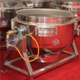 不锈钢搅拌夹层锅 卤味熟食生产线 卤制鸭脖设备