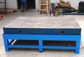 铸铁省模台,车间重型模具钳工桌利欣定制专供