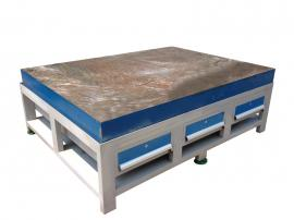 利欣重型工作台模具桌、带灯架省模台、铸铁加厚飞模台
