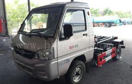 福田汽油3方勾臂式垃圾车|3方小型勾臂垃圾车价