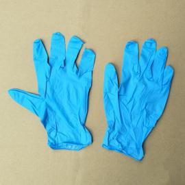 蓝色防滑酸碱实验室丁腈手套