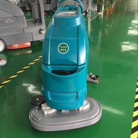 手推双刷自驱式洗地机洁乐美YSD-A6D篮球场塑胶地板清洁拖地机